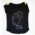 Freaky Heart (BLACK EDITION) Damen T-Shirt Schwarz